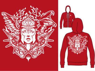 Red/White Hoodie