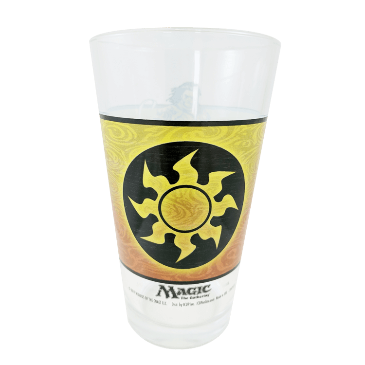 Pint Glass White Mana Symbol Mtg Pro Shop