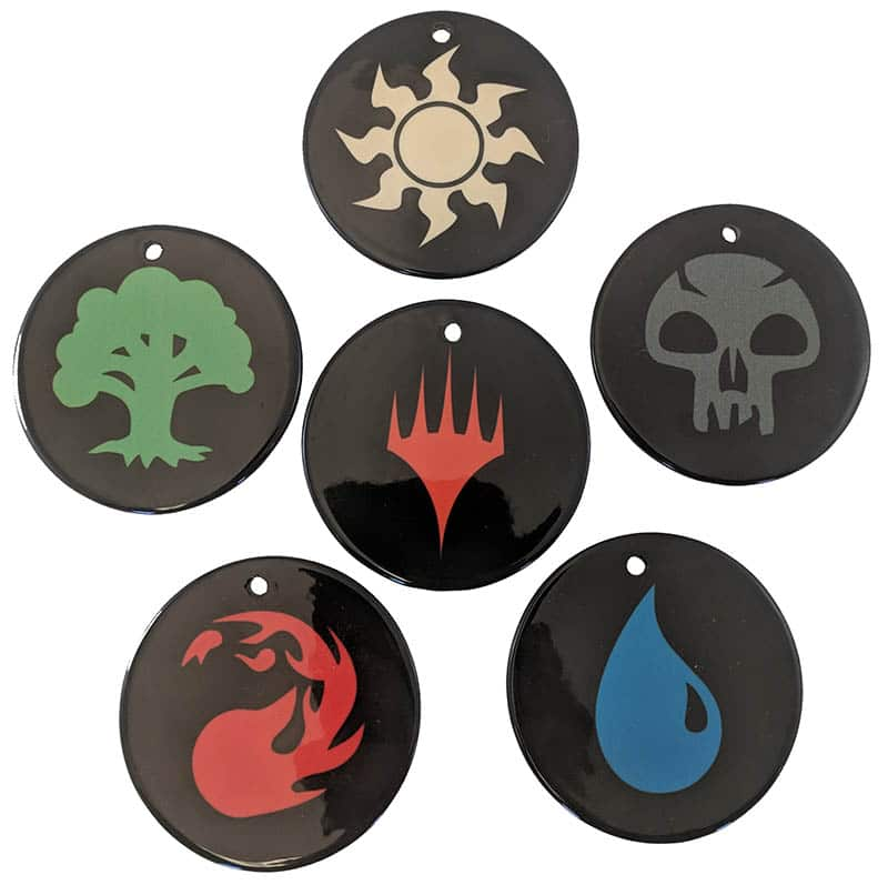Mana Symbol Ceramic Ornament Set Mtg Pro Shop